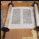 The Navi Yeshayahu written on kosher klaf. Click to zoom.