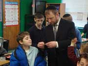 Working with the seventh grade class at Ashar, Monsey, NY