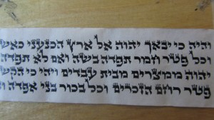 These Parshios were written by the famous Reb Nachman Sofer